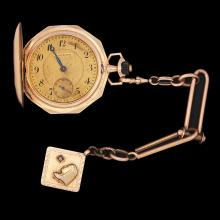 RIGOROSA, 14K GOLD POCKETWATCH