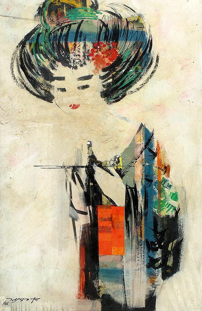 Dan Reisinger b. 1934:  Japanese Woman