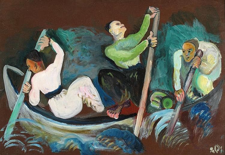 Israel Paldi 1892 - 1979 Fishermen