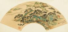 Chinese Antique Fan Painting