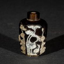 Antique Tea Crystal Snuff Bottle, 18-19th Century
