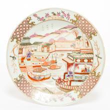 Antique 19th Export Porcelain Dish