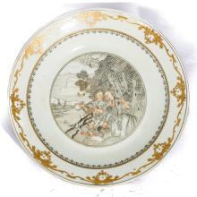 Chinese Antique Porcelain Dish, 18th Export