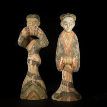 Pair Chinese Pottery Figure