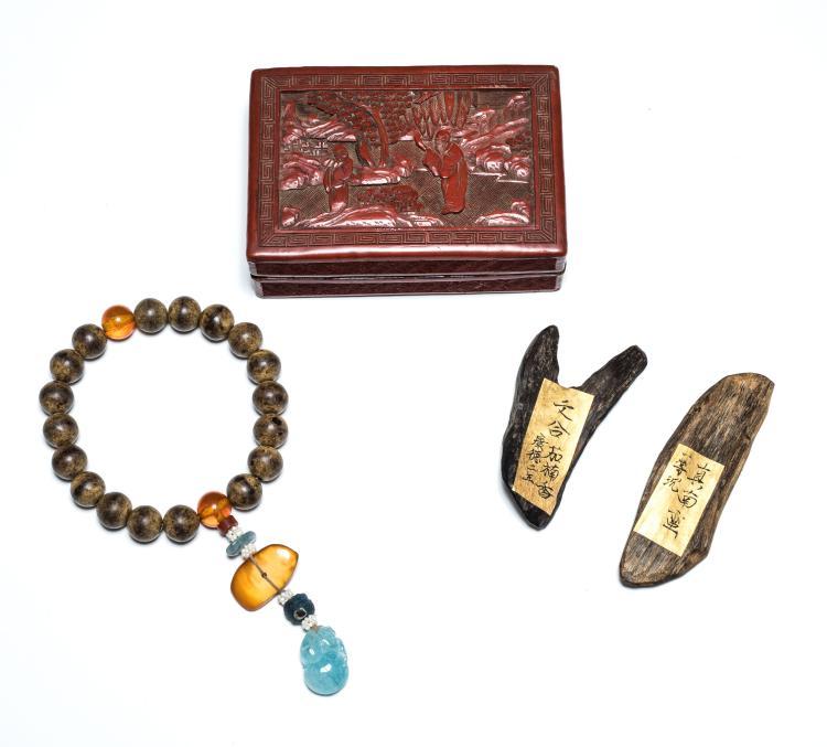19th Antique Box of Agarwood