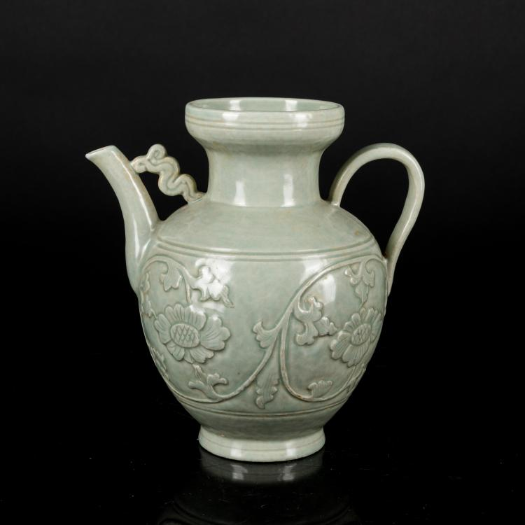 17th Antique Yingqing Porcelain Ewer