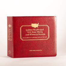 Stamp Album:Golden Replicas of USA, 22K, 1982
