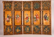 Chinese Antique Bamboo Screen