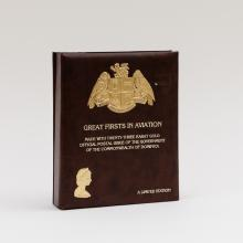 Stamp Album:Great Firsts in Aviation 23K Gold Stamps (Dominica)