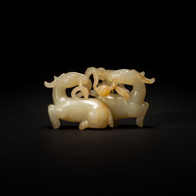 19th Chinese Antique Jade Figure: Fulushou