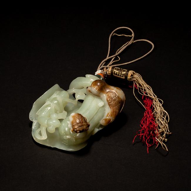 19th Chinese Antique Celadon Jade Pendant