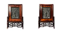 19th Chinses Antique Jade Screen