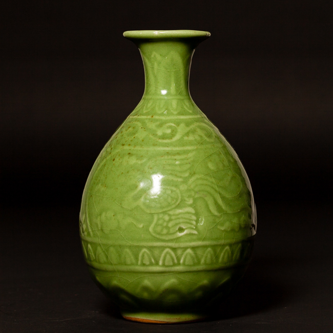 Chinese Antique Longquan Ware Glazed Porcelain Vase