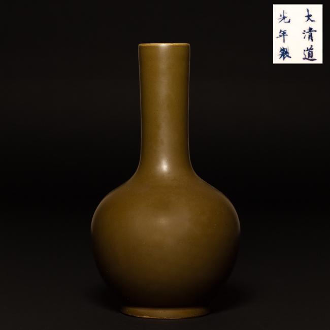 Chinese Antique Teadust Glazed Porcelain Vase