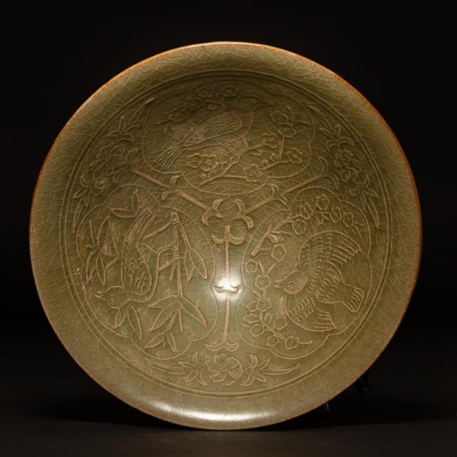 Chinese Antique Yaozhou Ware Glazed Porcelain Bowl