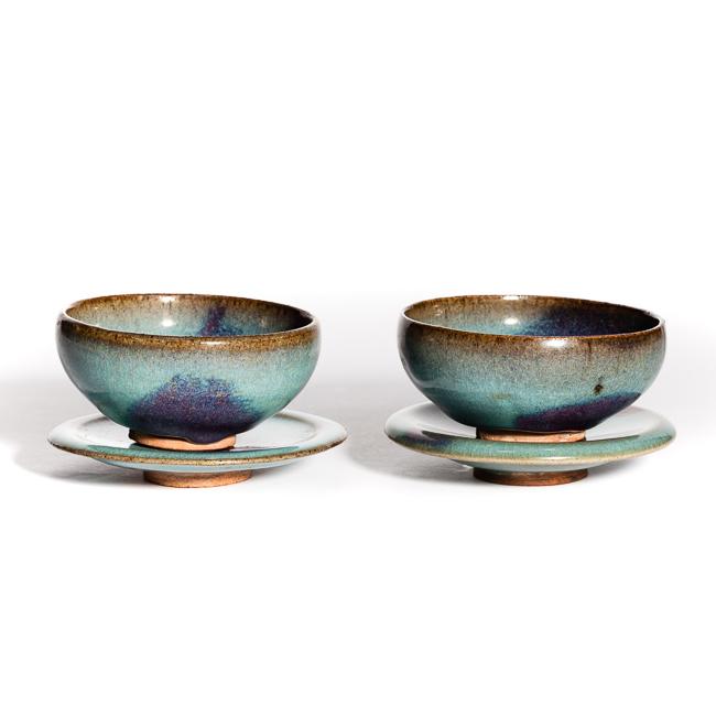 Chinese Antique Jin Dyansty Junyao Teacup Set