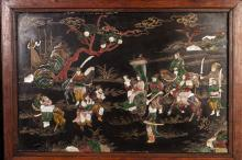 19th Chinese Antique Rosewood Screen