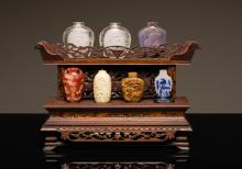 Group of Chinese Antique Snuff Bottles