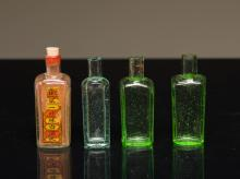 Group of Chinese Antique Medicine Bottles