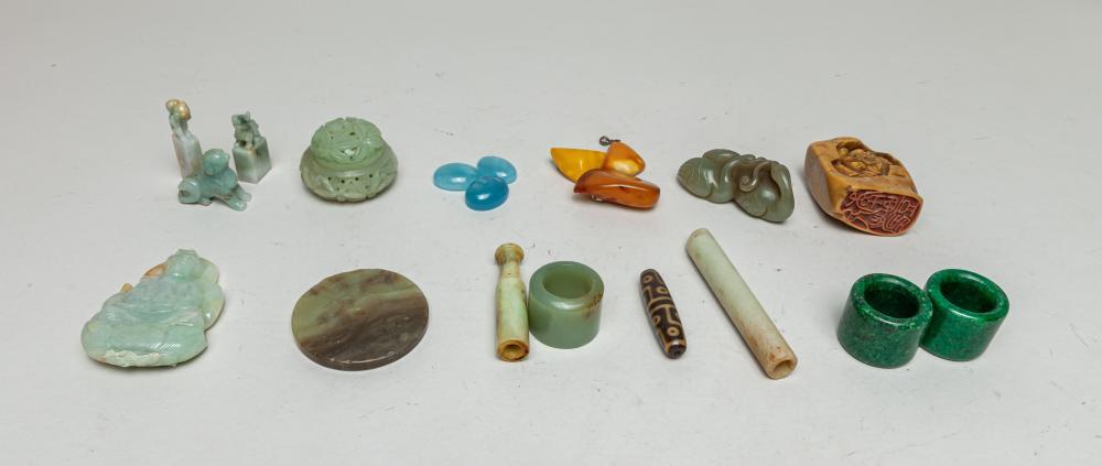 Estate Chinese Jade/ Stone Toggles