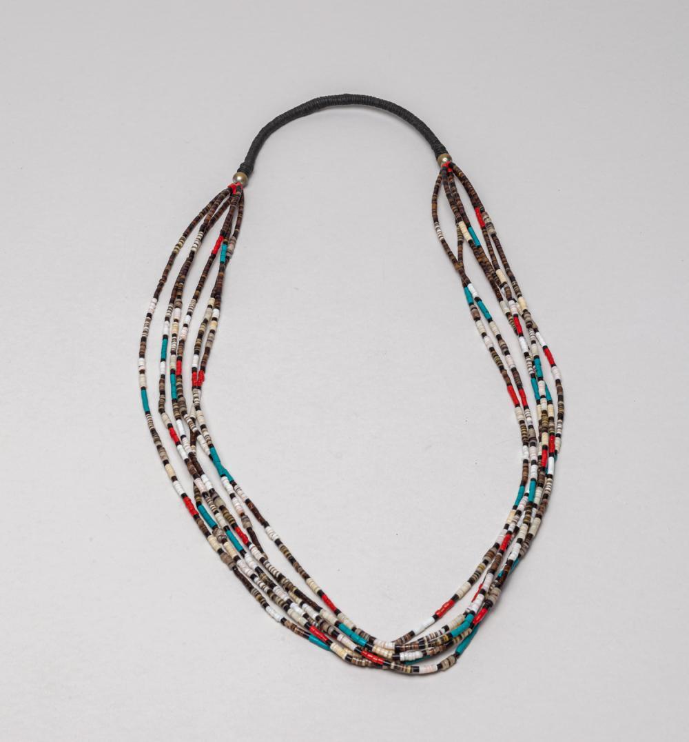 Rare Native American Type Gem Stone Necklace