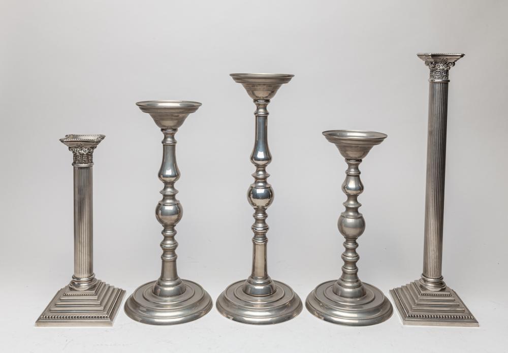 Designed Vintage Silver Color Candle Sticks