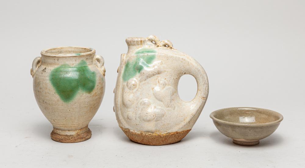 Set Korean Glazed Pottery Wares