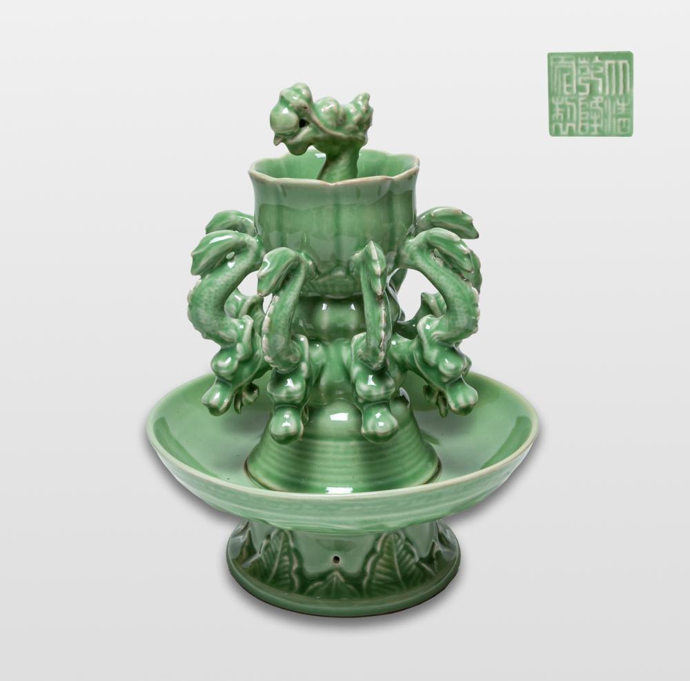 Chinese Longquan Type Porcelain Oil Lamp