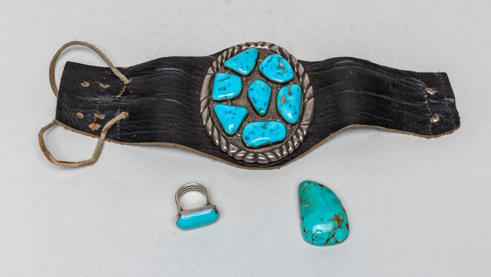 Estate Silver & Turquoise Belt/Jewelry
