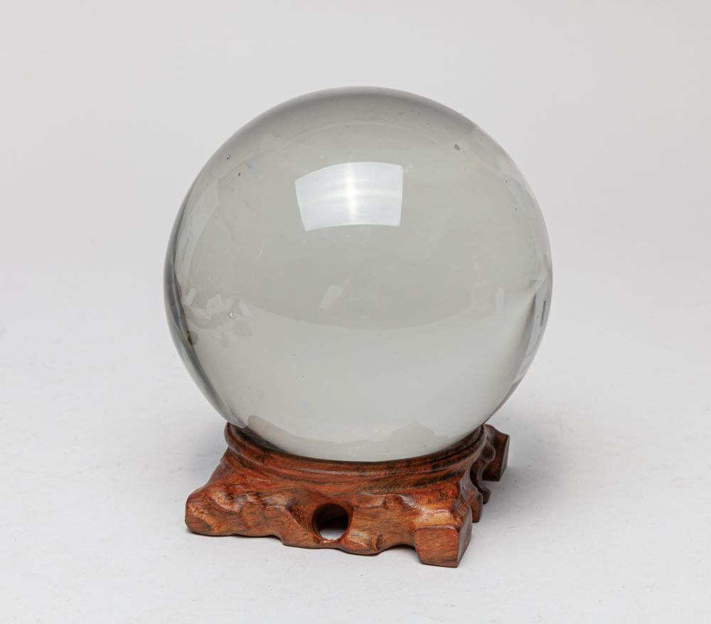 Large Clear Gem Stone Ball
