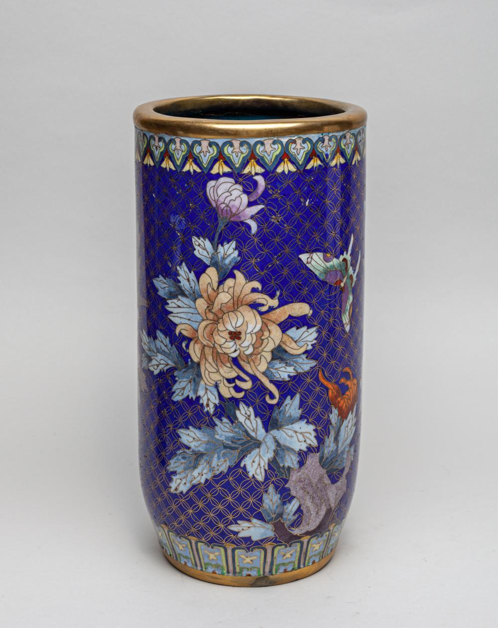 Collectible Chinese Export Cloisonne Cabinet Vase