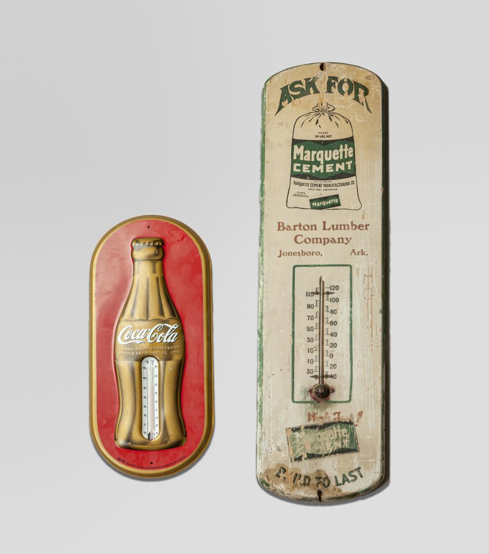 Coco Cola & Barton Lumber Thermometer Sign