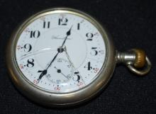 Antique Hamilton 993 21J 16S OF LS DR DMK Adjusted 5 Positions GJS Pocket Watch No. 808881: With a DSD and in a white Swing Out Keystone Silveroid case No. 9065297. The watch is running at this time.