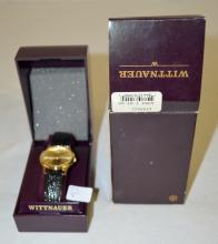 Vintage Wittnauer L48072 Wrist Watch with Gold Dial, Hands and Markers: