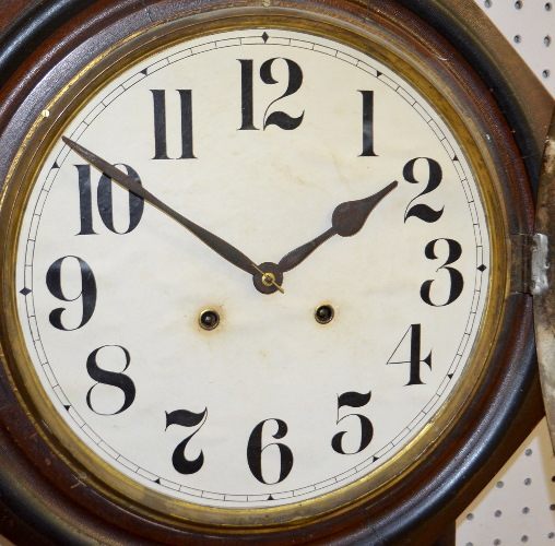 Antique Ansonia Long Drop Schoolhouse Wall Clock T Amp S With A