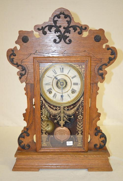 Antique Seth Thomas Oak Metals No 4 Kitchen Clock Price Guide