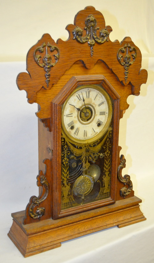 Antique seth thomas oak metal series kitchen clock with alar - Antique clock designs for your home ...