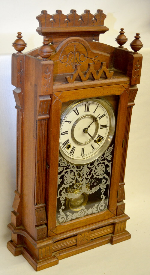 Antique gilbert dacca walnut kitchen clock with an unmark - Antique clock designs for your home ...