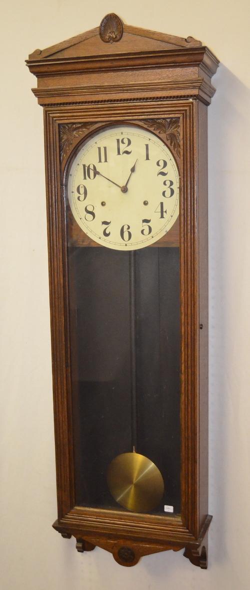 antique seth thomas 30 variant oak wall regulator clock t