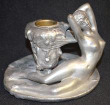 Antique Figural Nude Woman Candlestick