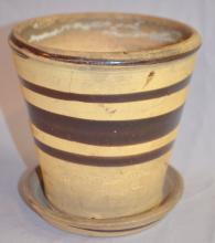 Stamped White's Pottery Works Flower Pot, Fort Dodge, Iowa:
