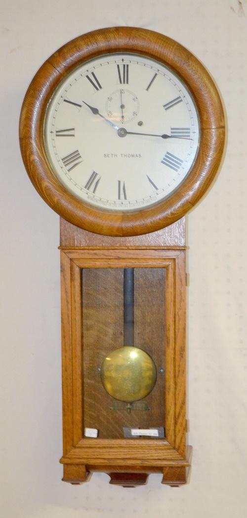 antique seth thomas 2 oak wall regulator wall clock t s wi