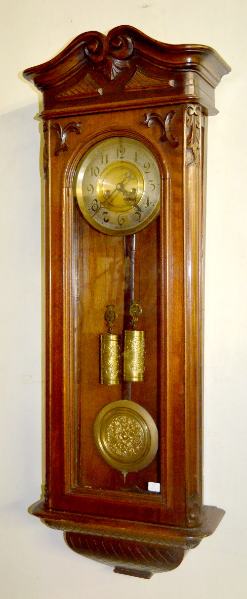 Antique Walnut French Baroque 2 Weight Wall Clock T Amp S Chapt