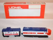 2 Piece Lionel Trains: Liberty Special Engine 8570 and Caboose