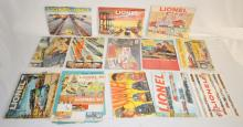 13 1940's, 1950's and 1960's Lionel Magazines: Includes 1946, 1950 Golden Anniversary Edition, 1951, 1953, 1954, 1955, 1956, two 1957, two 1958, 1959, two 1960, 1961, two 1964.