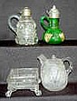 4 Collectible Glass Items, Syrups, Bowl +: 1.)
