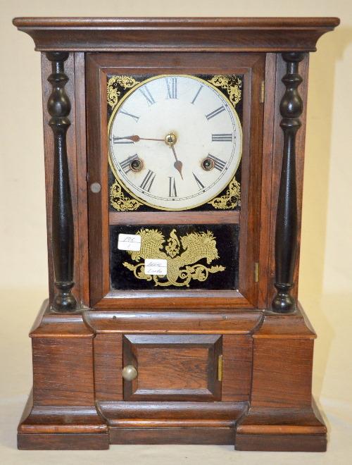 Antique atkins london rosewood split column shelf clock wi for Furniture auctions london