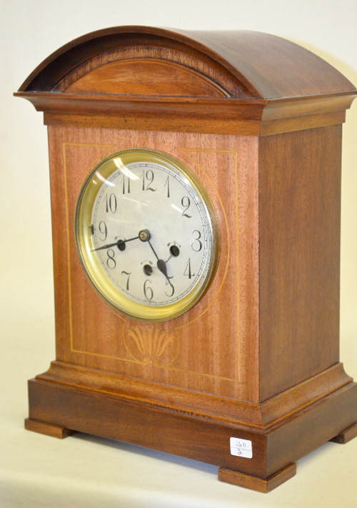 Antique junghans german chime mantel clock with an inlaid ca - Antique clock designs for your home ...