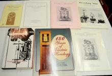 7 Reference Books and Pamphlets on Electric Timekeeping: 1 is hardbound and 6 are softbound. Please see the photos for titles. All are in good condition. All sell as is, where is.