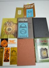 8 Reference Books on Information About Time and Clocks & Clock and Watch Advertising. Please see the photos for titles. All are in good condition. All sell as is, where is.
